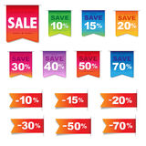 Discount Labels And Ribbons Set Royalty Free Stock Photo