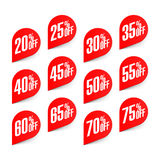 Discount labels set Stock Images