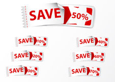 Discount labels .with star Stock Images
