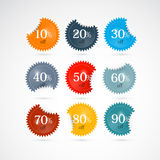 Discount Labels, Tags Set Stock Images