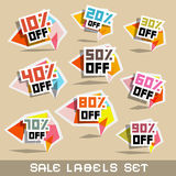 Discount Labels Vector Illustration Royalty Free Stock Image