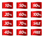 Discount labels. Vector illustration Stock Photography
