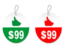 Discount labels. On a white background Royalty Free Stock Images