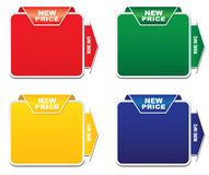 Discount labels. On  a white background Royalty Free Stock Image