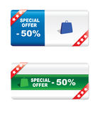 Discount labels. On  a white background Royalty Free Stock Photography