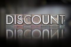 Discount Letterpress Royalty Free Stock Photo