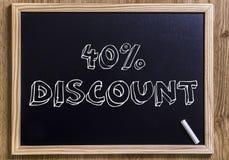 40%  discount Stock Photo