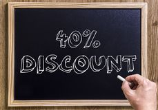 40%  discount Royalty Free Stock Image