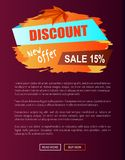 Discount New Offer Autumn Sale 15 Off Advert Label Royalty Free Stock Photo