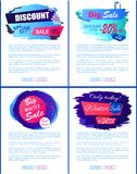 Discount New Offer Big Sale Winter Banner Tags Set. Discount new super big sale winter new offer hanging tag set of web posters with place for text vector Royalty Free Stock Photography