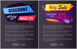 Discount New Offer Only Today 15- 20 Black Friday. Discount new offer only today 15 - 20 off Black Friday ad labels on brush strokes, business promotional web stock illustration
