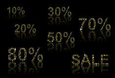 Discount numbers Royalty Free Stock Photo