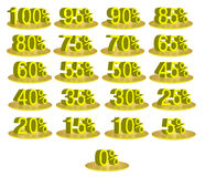 Discount Numbers stock photography