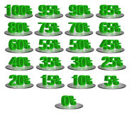 Discount Numbers stock images