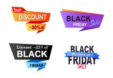 Discount -25 Off Stickers Vector Illustration Stock Photos