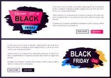 Discount Off Black Friday Sale Promo Labels Set Stock Images