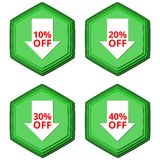 Discount off symbols Sale arrow tag icons. Vector icon Royalty Free Stock Photography