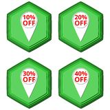 Discount off symbols Sale pointer tag icons. Icon Royalty Free Stock Image