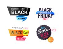 Discount -25 Off Only Today Vector Illustration Royalty Free Stock Images