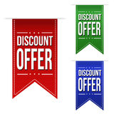 Discount offer banner design set Royalty Free Stock Photo