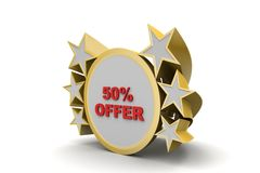 Discount offer banner Royalty Free Stock Photo