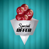 Discount and offer design. Discount concept with special offer icon design, vector illustration 10 eps graphic Royalty Free Stock Photo
