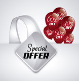 Discount and offer design. Discount concept with special offer icon design, vector illustration 10 eps graphic Stock Photos