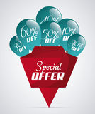 Discount and offer design. Discount concept with special offer icon design, vector illustration 10 eps graphic stock illustration