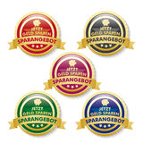 Discount Offer 5 Golden Buttons Royalty Free Stock Image