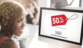 Discount Online Shopping Commercial Click Concept Royalty Free Stock Image
