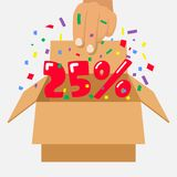 Discount opening vector Royalty Free Stock Images