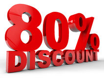 Discount 80% Royalty Free Stock Photo