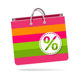 Discount, paper bag for shopping Royalty Free Stock Photo