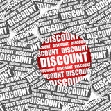 Discount paper stickers Royalty Free Stock Image