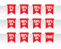Discount paper tag labels Stock Photos