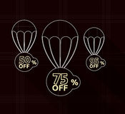 Discount parachute set Royalty Free Stock Photos