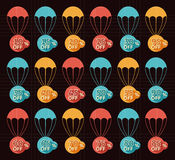 Discount parachute set Royalty Free Stock Images