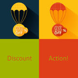 Discount parachute set Royalty Free Stock Image