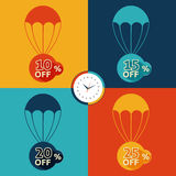 Discount parachute set Stock Photography