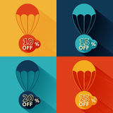 Discount parachute set Royalty Free Stock Photography