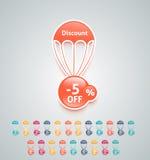 Discount parachute set Stock Image