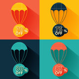 Discount parachute set Stock Photos