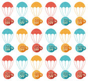 Discount parachute set Stock Images