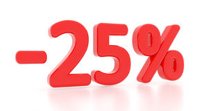 Discount 25 percent. 3d. 25%. Sale Royalty Free Stock Photo