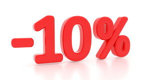 Discount 10 percent. 3d. 10%. Sale Royalty Free Stock Photos