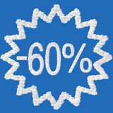 Discount - 60 percent Stock Image