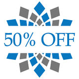 Discount 50 Percent Off Blue Grey Circular Royalty Free Stock Images