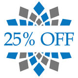 Discount 25 Percent Off Blue Grey Circular Royalty Free Stock Photo
