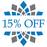 Discount 10 Percent Off Blue Grey Circular. Discount 10 percent text written over blue grey background Stock Photos