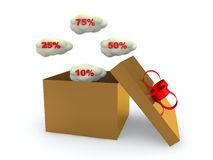 Discount  percent off. 3D illustration Royalty Free Stock Photo